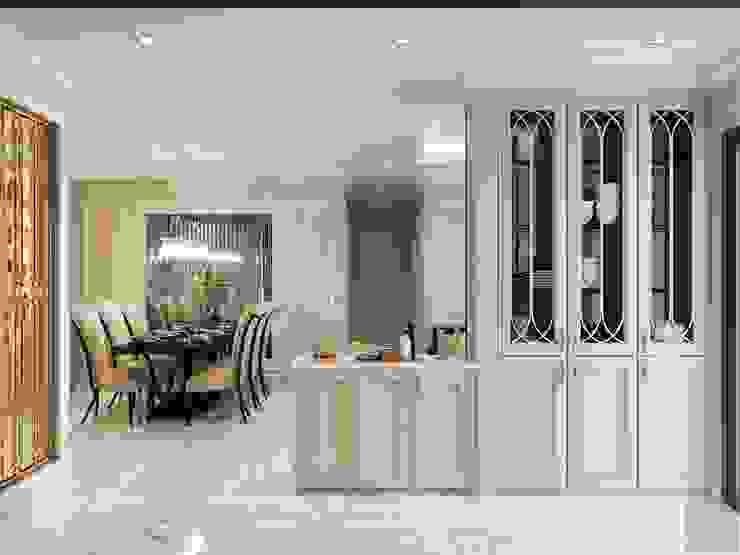 Phong cách Tân Cổ Điển trong thiết kế nội thất căn hộ Vinhomes Nhà bếp phong cách kinh điển bởi ICON INTERIOR Kinh điển