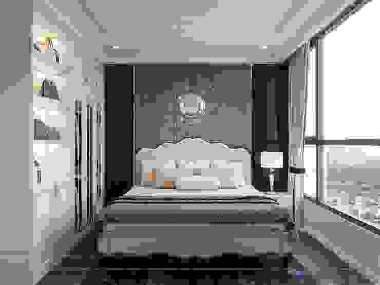 Phong cách Tân Cổ Điển trong thiết kế nội thất căn hộ Vinhomes Phòng ngủ phong cách kinh điển bởi ICON INTERIOR Kinh điển