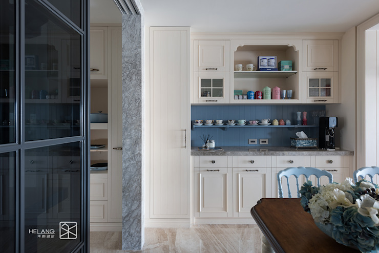 餐邊櫃 Classic style dining room by 禾廊室內設計 Classic