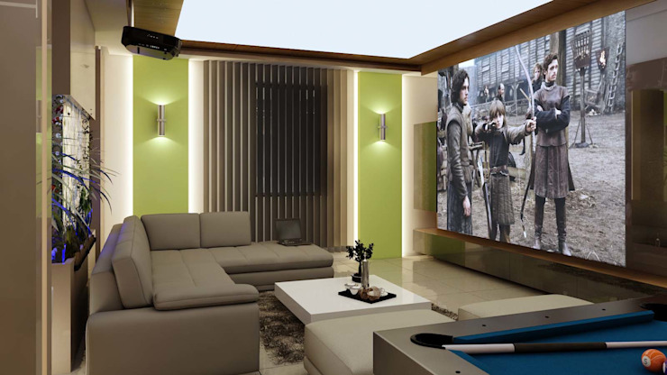 Aktivite alanları Modern Oturma Odası ANTE MİMARLIK Modern