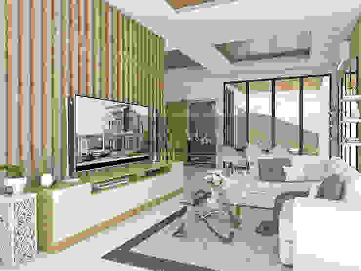 Tropical style living room by PT. Leeyaqat Karya Pratama Tropical