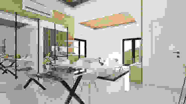 Tropical style dining room by PT. Leeyaqat Karya Pratama Tropical