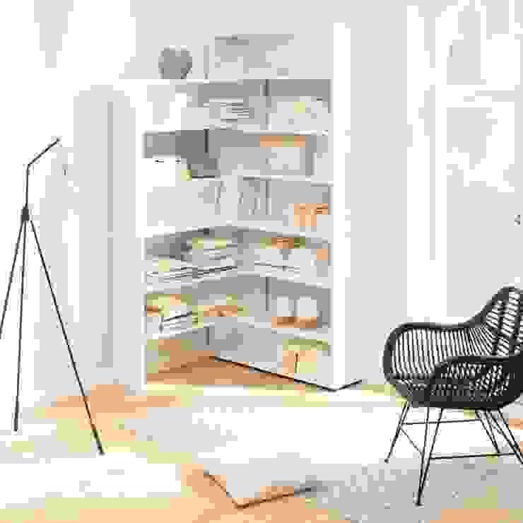homify Living roomShelves White