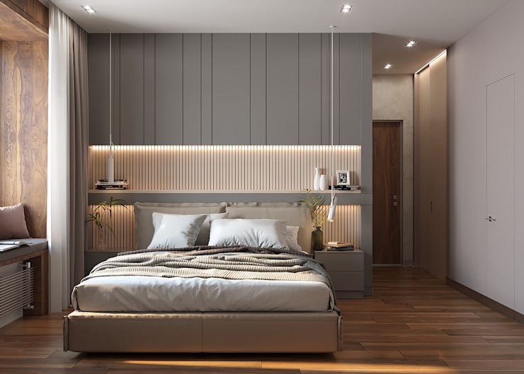 FISHEYE Architecture & Design Minimalist bedroom