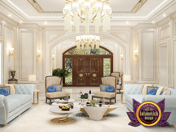Glamorous House Design: classic  by Luxury Antonovich Design, Classic