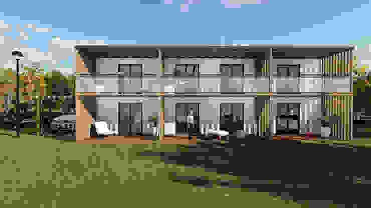 Modelo | T3 Duplex 304m² por Discovercasa | Casas de Madeira & Modulares Moderno Madeira Acabamento em madeira