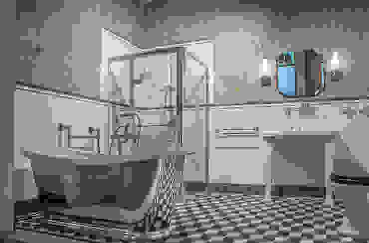 Traditional Bathrooms GmbH Classic style bathroom Metallic/Silver