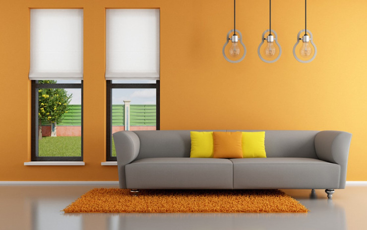 Bright colours for the Living room by Modulart Modern