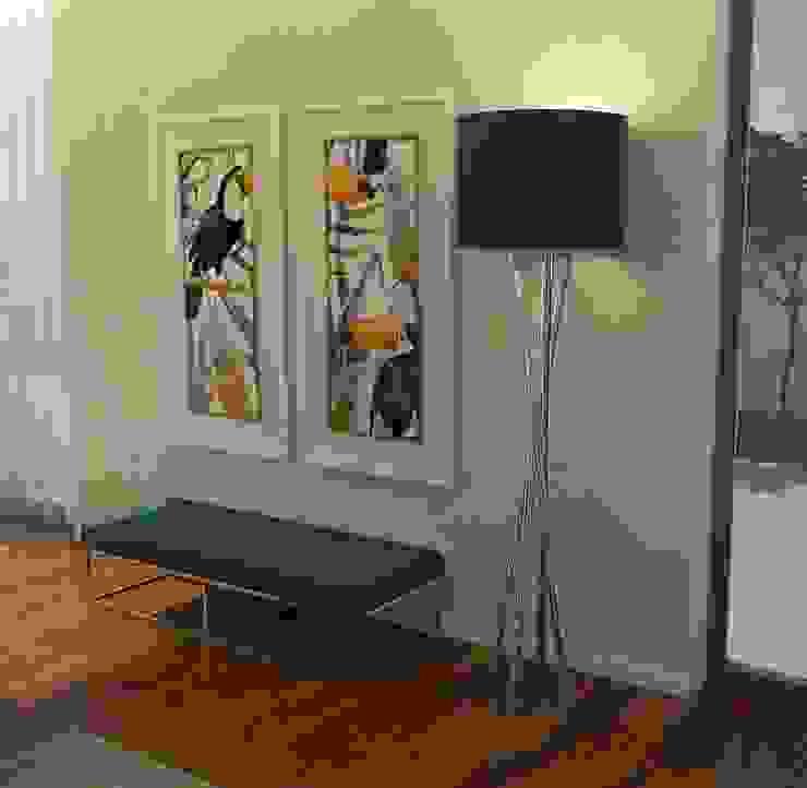 Casactiva Interiores Pasillos, vestíbulos y escaleras de estilo minimalista Metal Azul