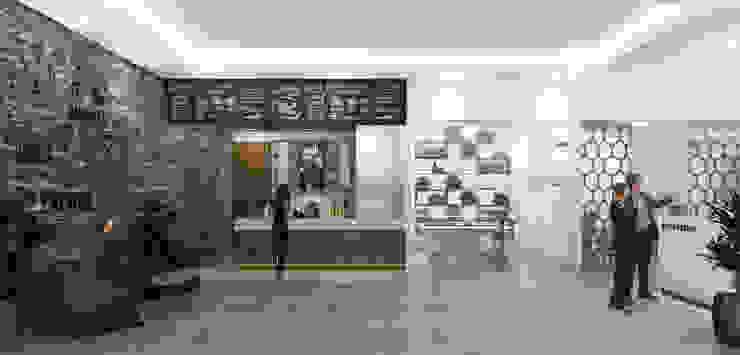 Coffee Shop Brico Bangunan Kantor Modern Oleh Desain Konstruksi Arsitektur Modern