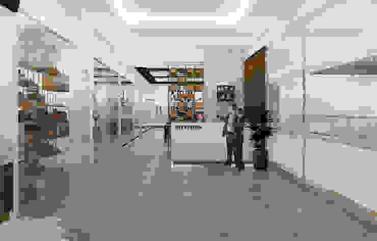 Lobby Brico Share Office Bangunan Kantor Modern Oleh Desain Konstruksi Arsitektur Modern