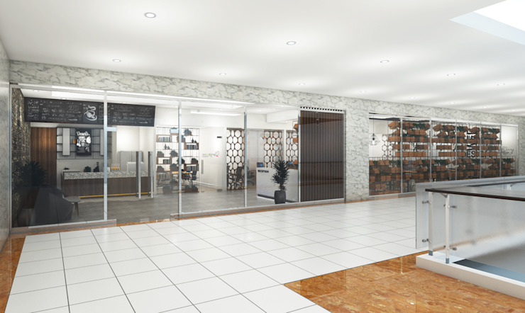 Brico Share Office Bangunan Kantor Modern Oleh Desain Konstruksi Arsitektur Modern