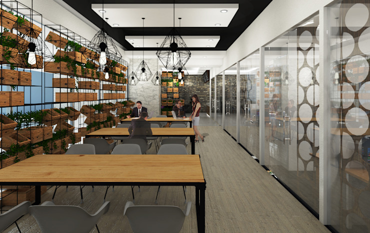 Share Office Bangunan Kantor Modern Oleh Desain Konstruksi Arsitektur Modern
