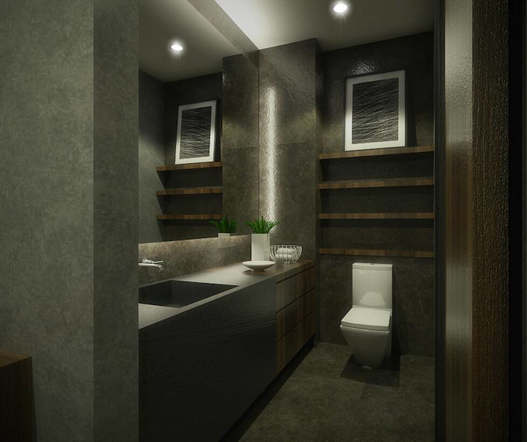 Baños de estilo moderno de Desain Konstruksi Arsitektur Moderno