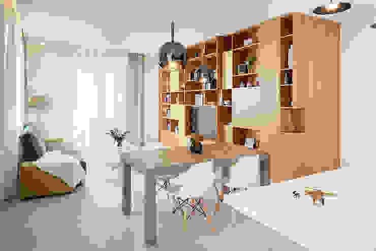 manuarino architettura design comunicazione Phòng khách Gỗ