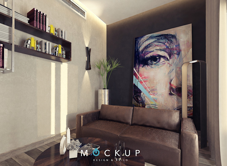 Nowoczesna sypialnia od Mockup studio Nowoczesny