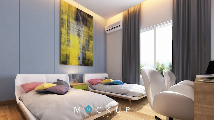 Спальня в стиле модерн от Mockup studio Модерн