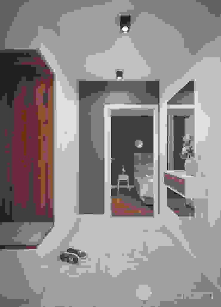 Modern Corridor, Hallway and Staircase by hexaform Modern