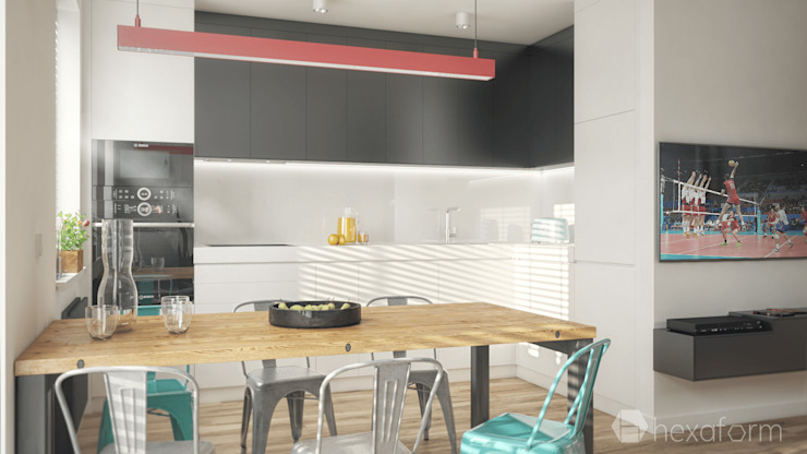Cocinas de estilo minimalista de hexaform Minimalista