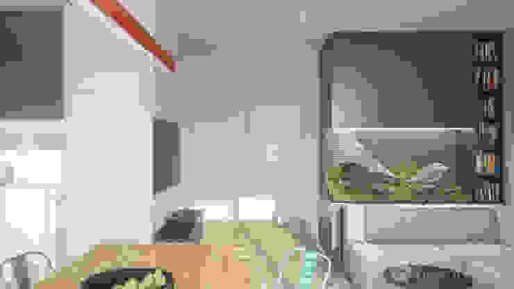 Salones de estilo minimalista de hexaform Minimalista