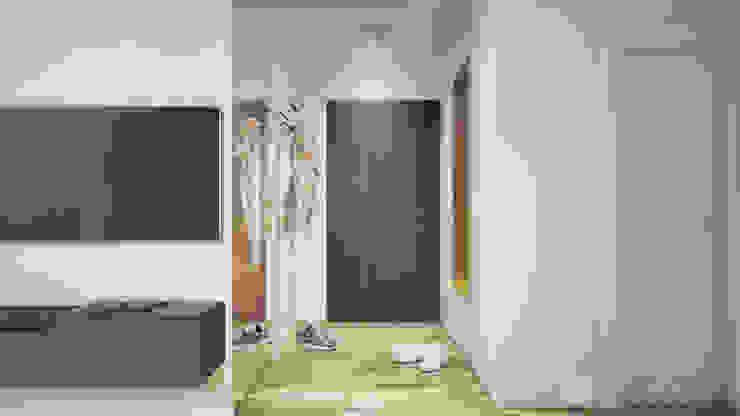 Pasillos, vestíbulos y escaleras de estilo minimalista de hexaform Minimalista