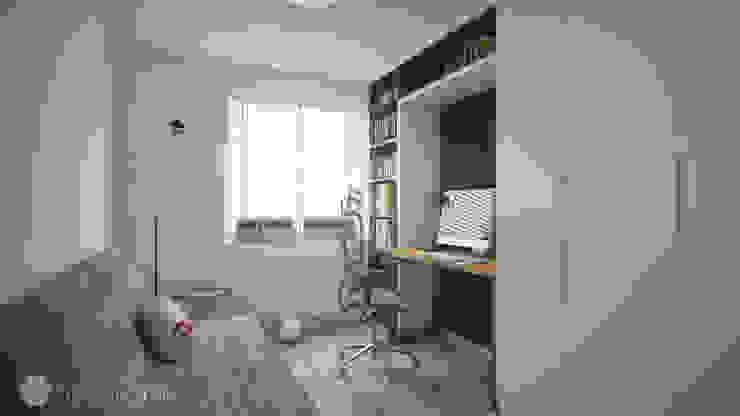 Estudios y despachos de estilo minimalista de hexaform Minimalista