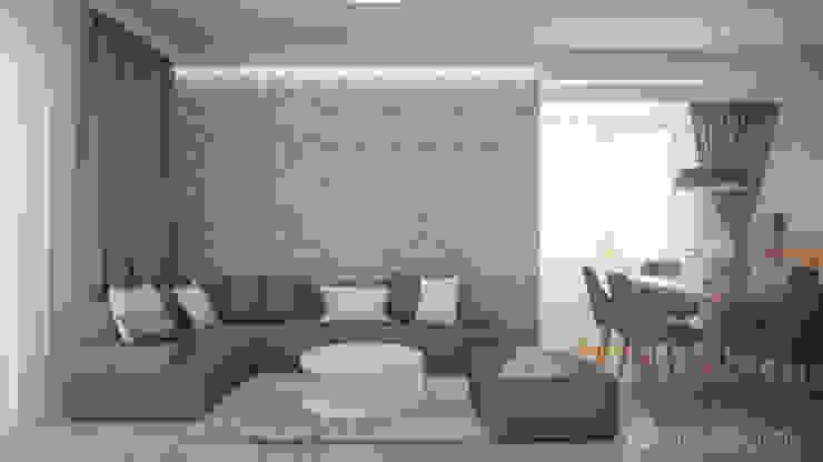 Salones de estilo moderno de hexaform Moderno