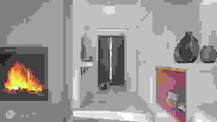 hexaform Modern corridor, hallway & stairs