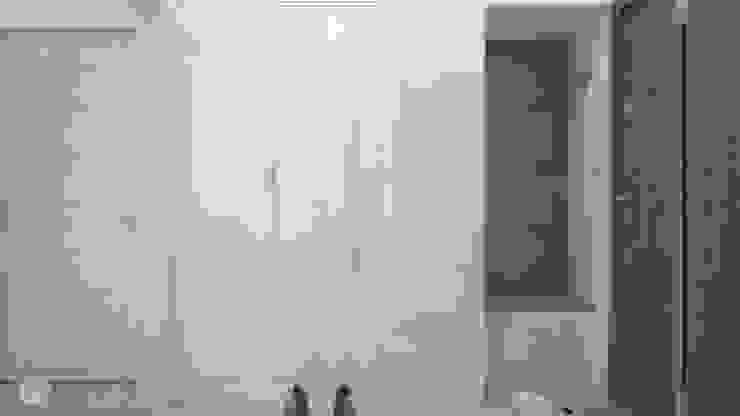 Pasillos, vestíbulos y escaleras de estilo moderno de hexaform Moderno