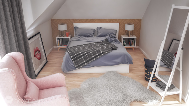 hexaform Scandinavian style bedroom