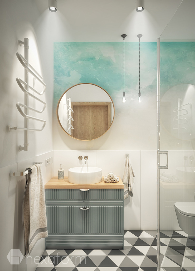 hexaform Scandinavian style bathroom