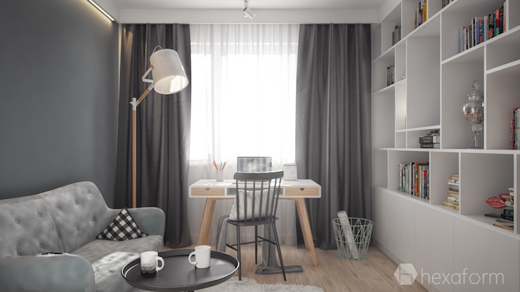 hexaform Scandinavian style study/office