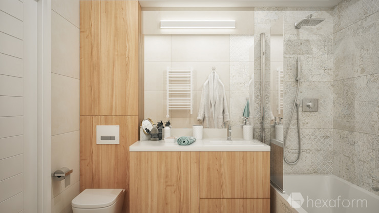 hexaform Scandinavian style bathrooms
