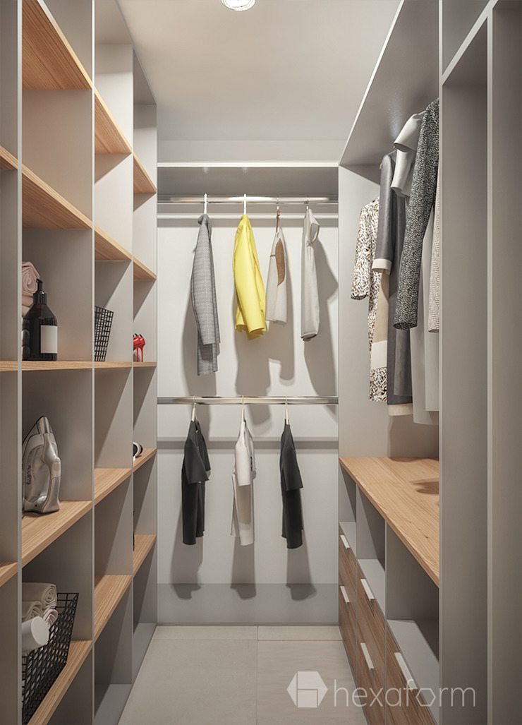 hexaform Scandinavian style dressing room