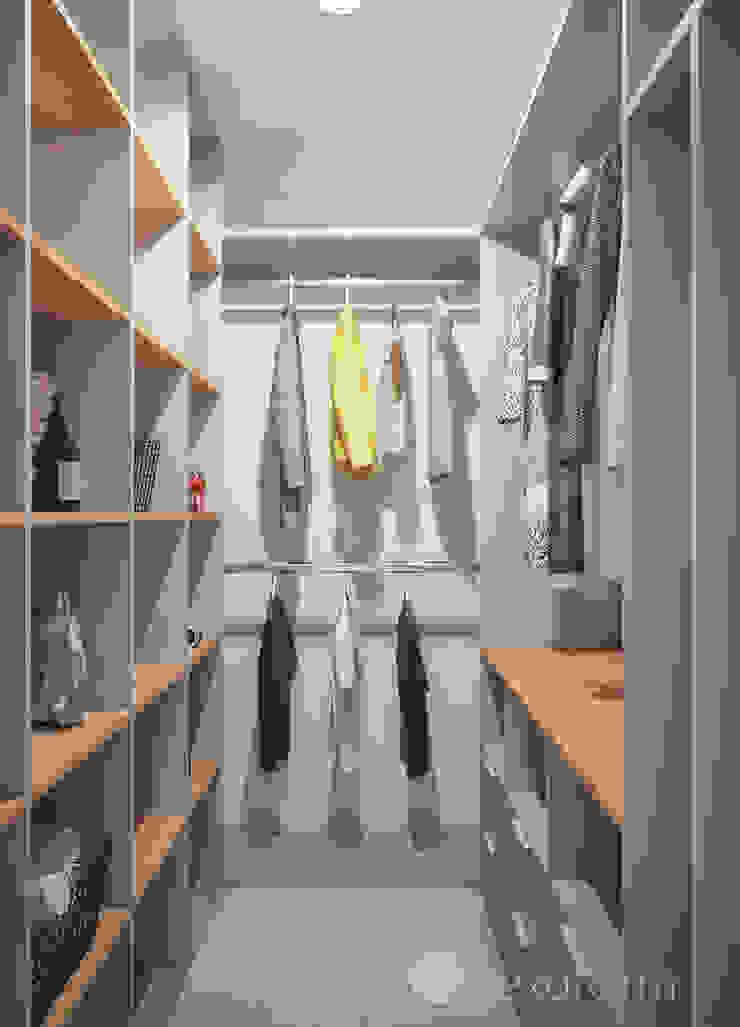 Scandinavian style dressing room by hexaform Scandinavian