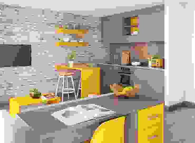 View 2 of Studio Apartment CRISP3D Dormitorios modernos: Ideas, imágenes y decoración Ladrillos Amarillo