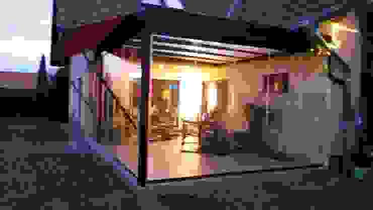 Montage & Design Gunter Uhlig Classic style conservatory Aluminium/Zinc Brown