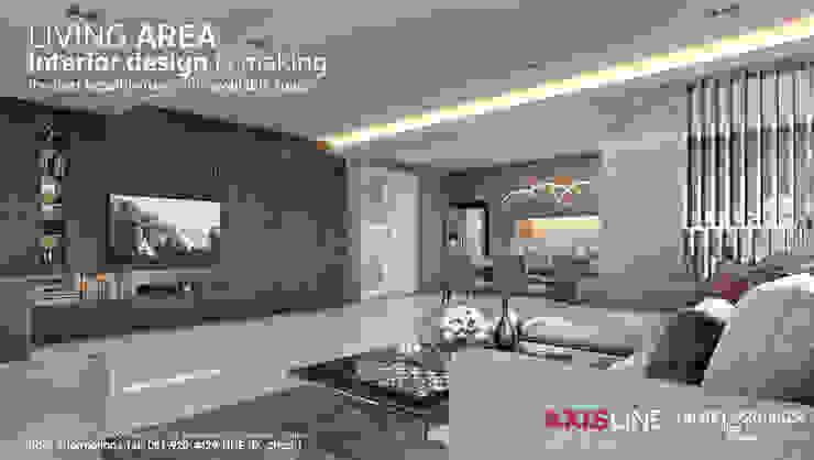 ออกแบบตกแต่งภายในห้องนั่งเล่น (Living room): ทันสมัย  โดย บริษัทแอคซิสลาย จำกัด, โมเดิร์น