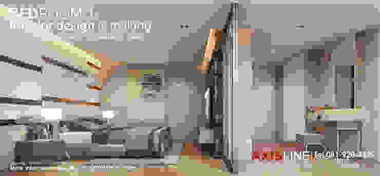 ออกแบบตกแต่งภายในห้องนอน 1 (Bedroom1): ทันสมัย  โดย บริษัทแอคซิสลาย จำกัด, โมเดิร์น