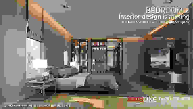 ออกแบบตกแต่งภายในห้องนอน 2 (Bedroom2): ทันสมัย  โดย บริษัทแอคซิสลาย จำกัด, โมเดิร์น
