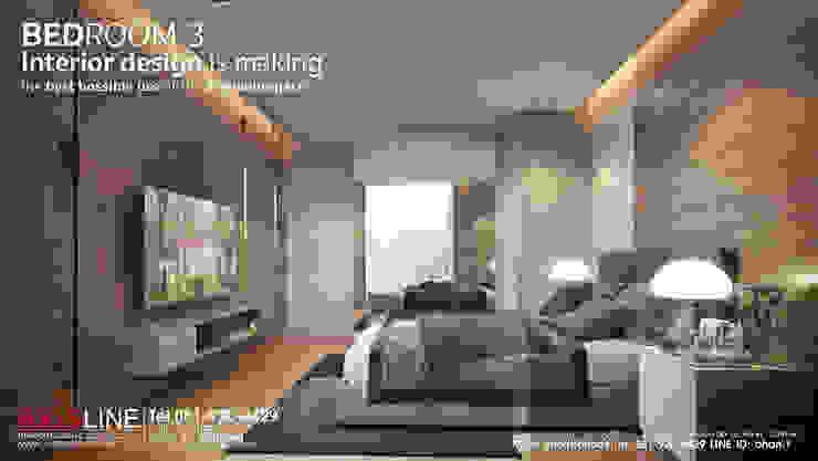 ออกแบบตกแต่งภายในห้องนอน 3 (Bedroom3): ทันสมัย  โดย บริษัทแอคซิสลาย จำกัด, โมเดิร์น