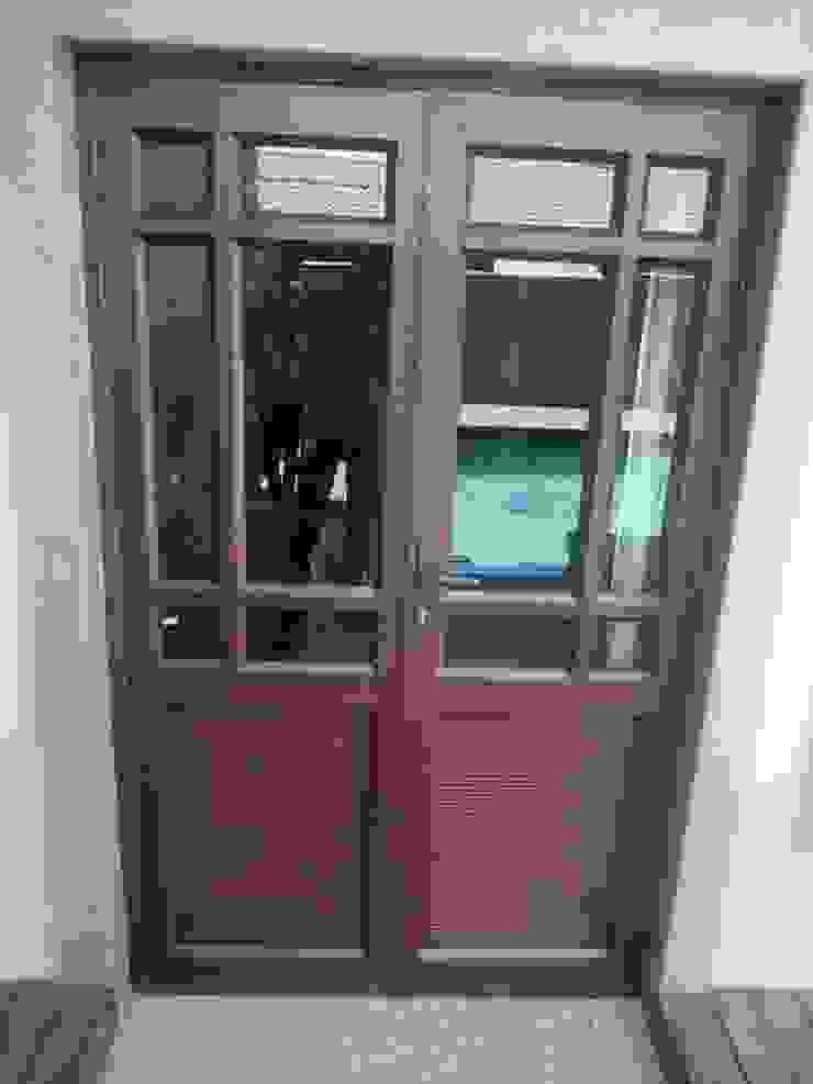 DOUBLE DOOR AFTER by ALUWOOD WINDOWS AND DOORS