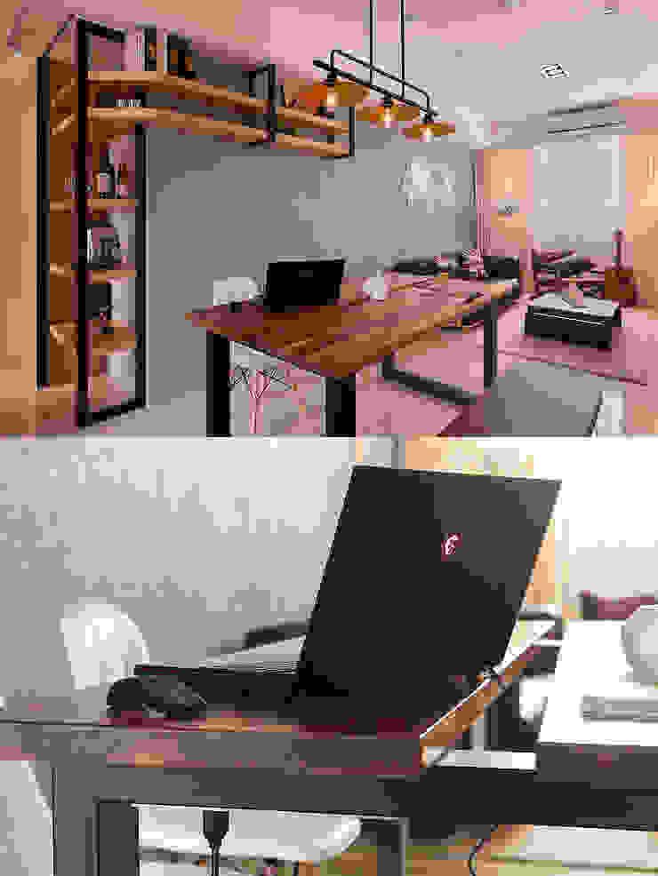 Q:餐桌也可以當工作桌?而且桌子不需要被固定! 根據 趙玲室內設計 工業風