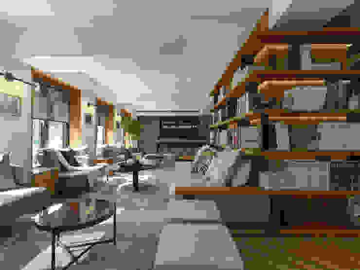 沙發聚落圖書 根據 雅群空間設計 現代風