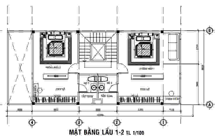 Tư Vấn Xây Nhà Phố 4 Tầng 6x15m Có Gara bởi Công ty Thiết Kế Xây Dựng Song Phát Hiện đại