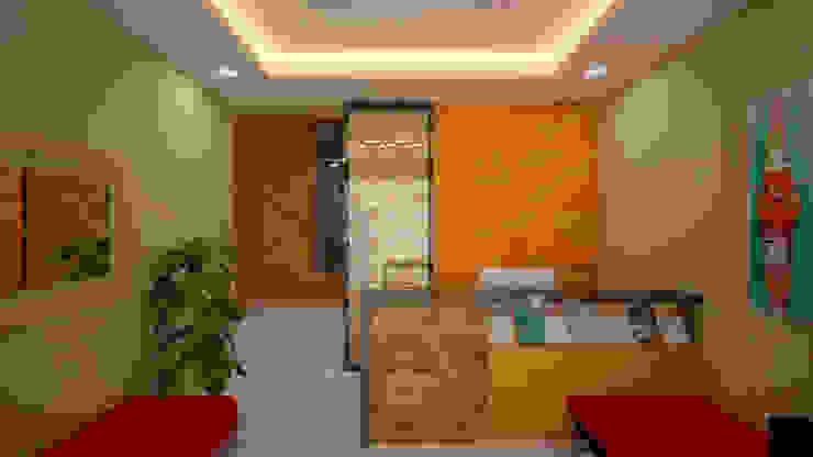 Ruang Resepsionis Ruang Studi/Kantor Modern Oleh Vaastu Arsitektur Studio Modern