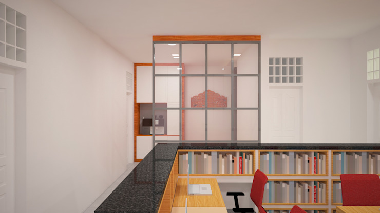 Ruang Peneliti Junior - Mushollah Ruang Studi/Kantor Modern Oleh Vaastu Arsitektur Studio Modern