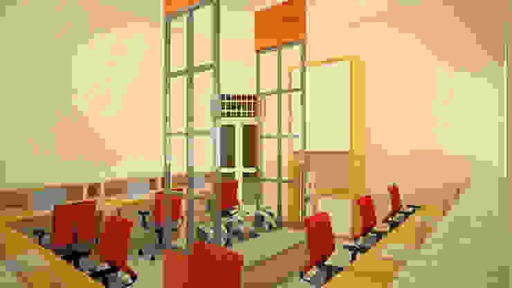 Ruang Peneliti Senior Ruang Studi/Kantor Modern Oleh Vaastu Arsitektur Studio Modern
