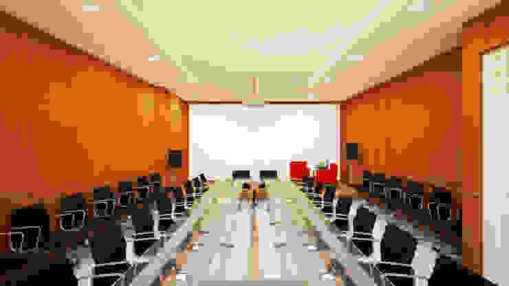 Ruang Meeting Ruang Studi/Kantor Modern Oleh Vaastu Arsitektur Studio Modern
