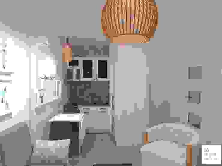 Diseño de Monoambiente en Buenos Aires: Cocinas de estilo  por Arquimundo 3g - Diseño de Interiores - Ciudad de Buenos Aires,Escandinavo